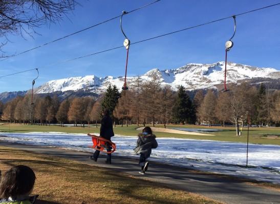 今年滑雪椅停駛。